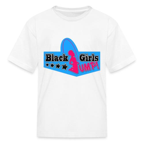 Black Girls Jump Kid's Standard Tee (Blue) - Kids' T-Shirt