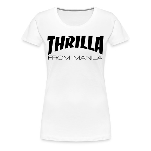 Pacquiao THRILLA FROM MANILA Womens Shirt by AiReal Apparel - Women's Premium T-Shirt