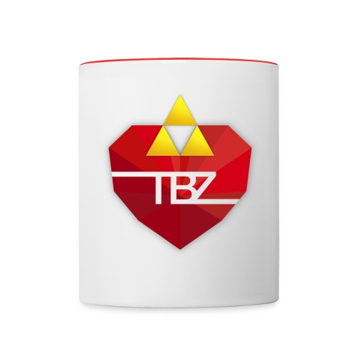 TBZ Red Rim Mug - Contrast Coffee Mug