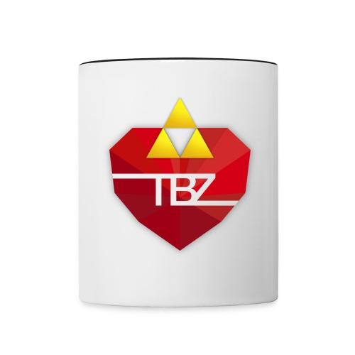 TBZ Black Rim Mug - Contrast Coffee Mug