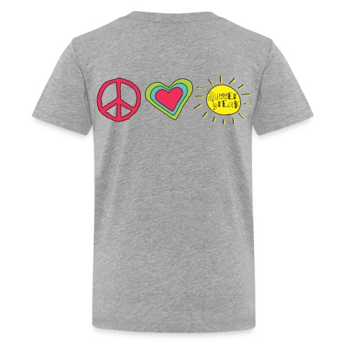 Double Sided Happy Last Day of School/Peace Love Summer Break - Kids' Premium T-Shirt