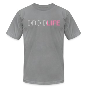 DROID LIFE TEXT (American Apparel Cotton) - Men's T-Shirt by American Apparel