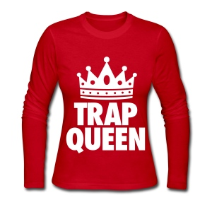 Trap Queen Long Sleeve Shirts - Women's Long Sleeve Jersey T-Shirt