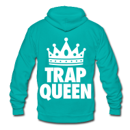 Zip Hoodies & Jackets ~ Unisex Fleece Zip Hoodie by American Apparel ~ Trap Queen Zip Hoodies & Jackets