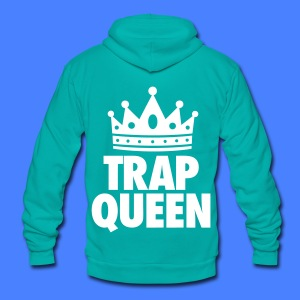 Trap Queen Zip Hoodies & Jackets - Unisex Fleece Zip Hoodie by American Apparel