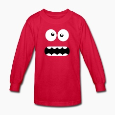 Funny Cartoon Monster Face - Crazy / Smiley Kids' Shirts