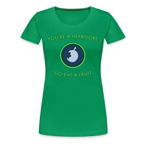 Herbivore shirt (Ladies) - Women's Premium T-Shirt