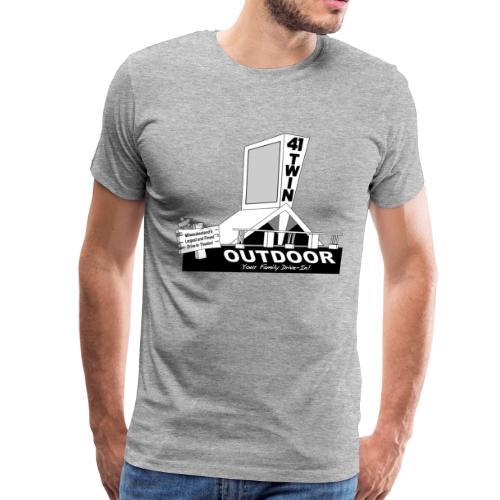 41 Twin Outdoor Drive-in Theatre - Men - Men's Premium T-Shirt