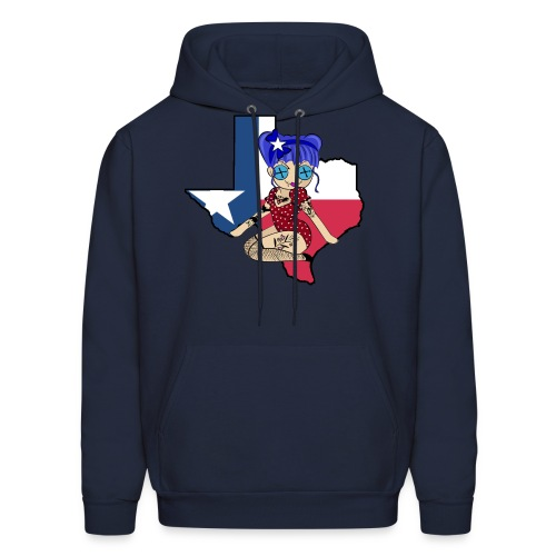 Texas Men's Hooded Sweatshirt - Men's Hoodie