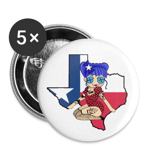 Texas Button - Buttons large 2.2'' (5-pack)