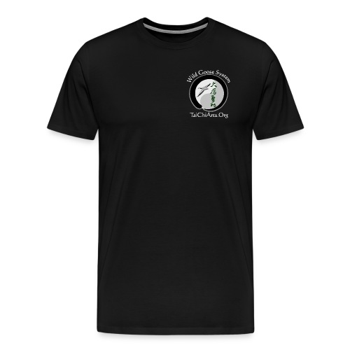 Men's T-Shirt (Front & Back White Lettering) - Men's Premium T-Shirt