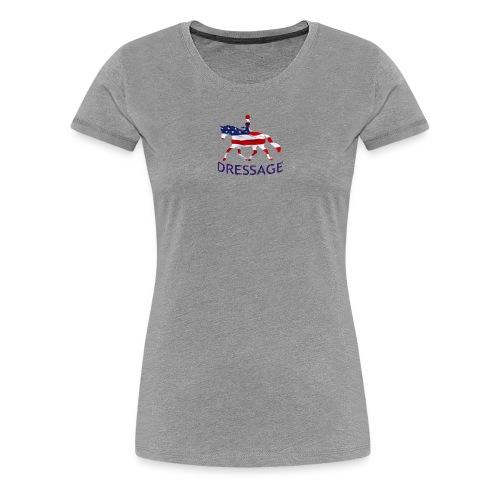 Patriotic Dressage T - Women's Premium T-Shirt