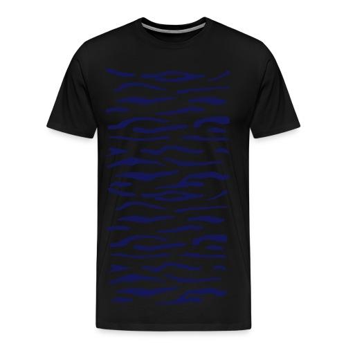 Tiger Stripes - MEN BLUE - Men's Premium T-Shirt
