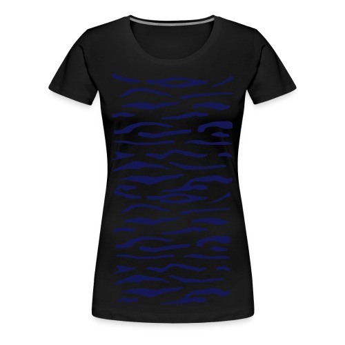 Tiger Stripes - WOMEN BLUE - Women's Premium T-Shirt