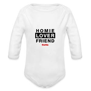 Baby Homie Lover Friend  - Long Sleeve Baby Bodysuit
