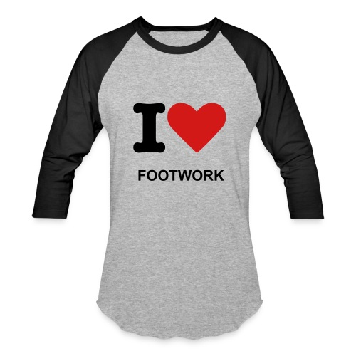 QUARTER SLEEVE - I-LOVE-FOOTWORK TEE - Baseball T-Shirt
