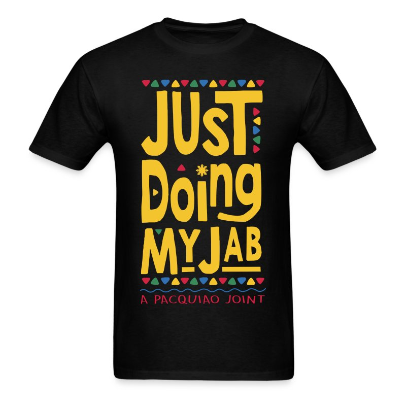 PACQUIAO JUST DOING MY JAB Mens Tee by AiReal Apparel - Men's T-Shirt
