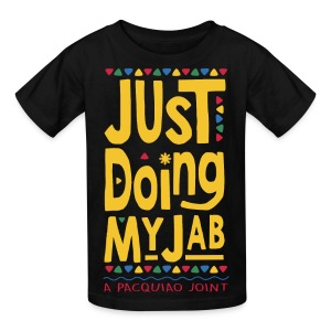 PACQUIAO JUST DOING MY JAB Kids Tee by AiReal Apparel - Kids' T-Shirt