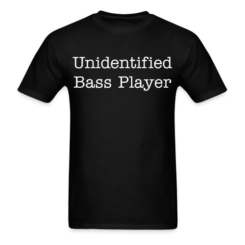 Men's Unidentified Bass Player TEE BLACK - Men's T-Shirt