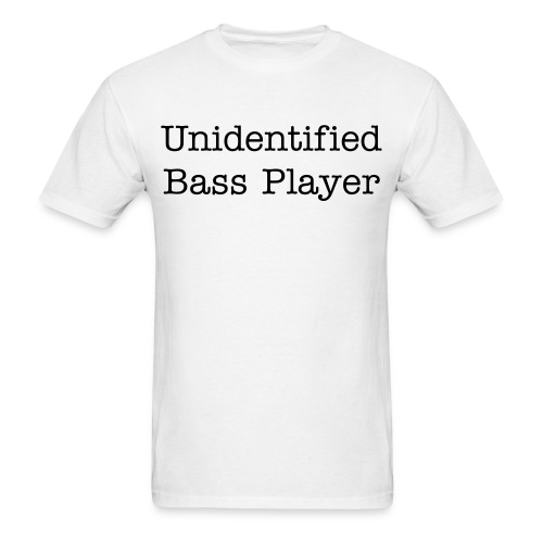 Men's Unidentified Bass Player TEE - Men's T-Shirt