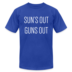Sun's out guns out - Men's T-Shirt by American Apparel