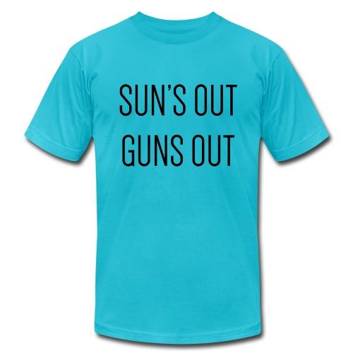 Sun's out guns out - Men's Fine Jersey T-Shirt