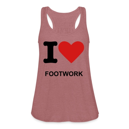 LADIES I-LOVE-FOOTWORK FLOWY TANK - Women's Flowy Tank Top by Bella