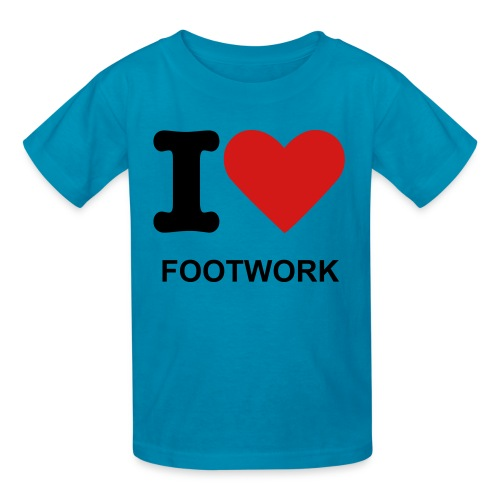 KIDS- I-LOVE-FOOTWORK TEE - Kids' T-Shirt