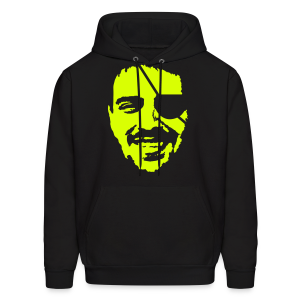 Rock my face in neon green - Men's Hoodie