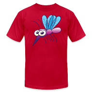 T-Shirts ~ Men's T-Shirt by American Apparel ~ Cute Purple Mosquito T-Shirts