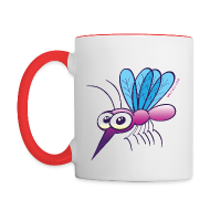 Mugs & Drinkware ~ Contrast Coffee Mug ~ Cute Purple Mosquito Mugs & Drinkware