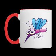 Mugs & Drinkware ~ Contrast Coffee Mug ~ Cute Purple Mosquito Mugs & Drinkware