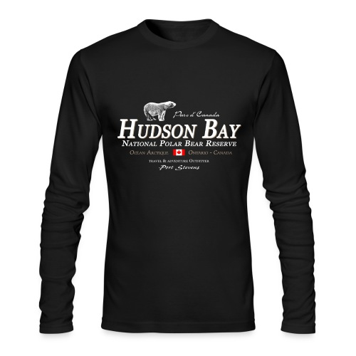Hudson Bay Polar Bear Longsleeve - Men's Long Sleeve T-Shirt by Next Level