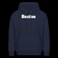 Hoodies ~ Men's Hoodie ~ Vintage Boston Men's Hooded Sweatshirt