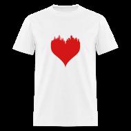 T-Shirts ~ Men's T-Shirt ~ Boston Love Men's White Red T-Shirt