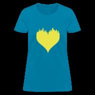 T-Shirts ~ Women's T-Shirt ~ Boston Love Blue/Yellow Women's
