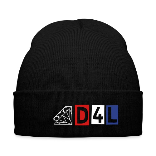 D4L-Beanie - Knit Cap with Cuff Print