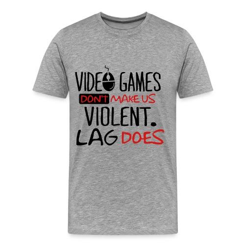 Violent Games Vs Lag - Men's Premium T-Shirt