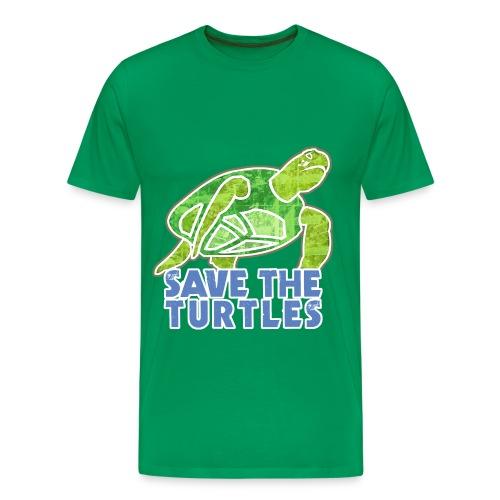 Save the Turtle's Kids - Men's Premium T-Shirt
