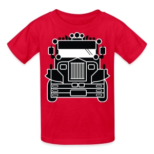 Philippines Jeepney Ride Kids Tee by AiReal Apparel - Kids' T-Shirt