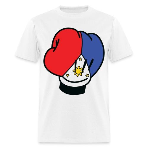 MP Mickey Pacquiao Filipino Flag Boxing Glove Mens Tee Shirt by AiReal Apparel - Men's T-Shirt