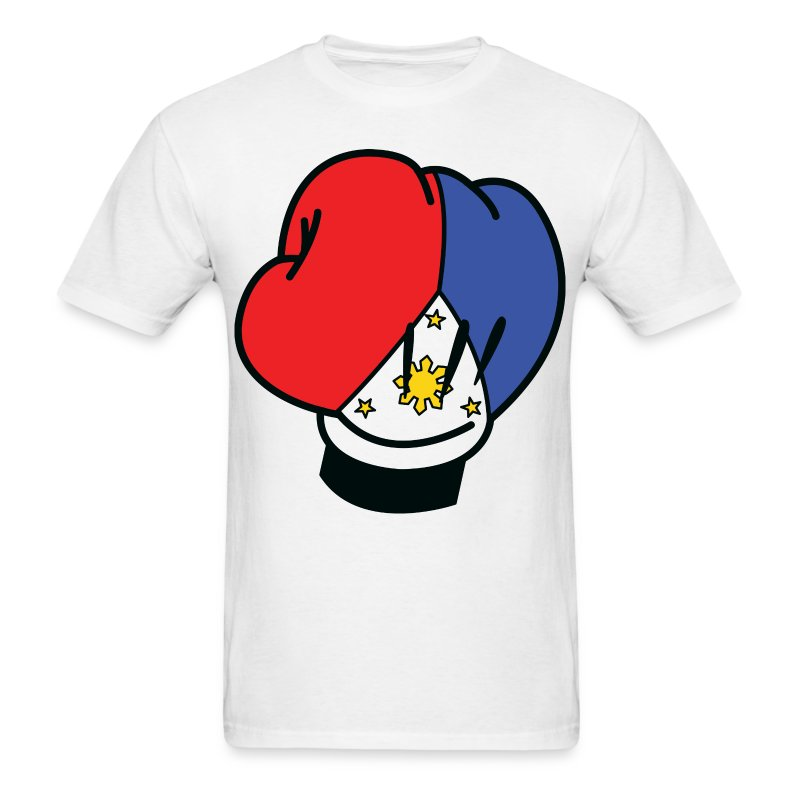 MP Mickey Pacquiao Filipino Flag Boxing Glove Mens Tee Shirt by AiReal Apparel - Men's T-Shirt