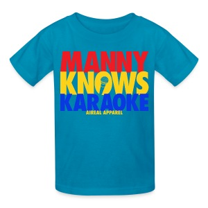 Manny Pacquiao Knows Karaoke Kids Tee Shirt by AiReal Apparel - Kids' T-Shirt