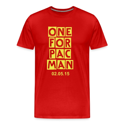 One for PACMAN red with date - Men's Premium T-Shirt