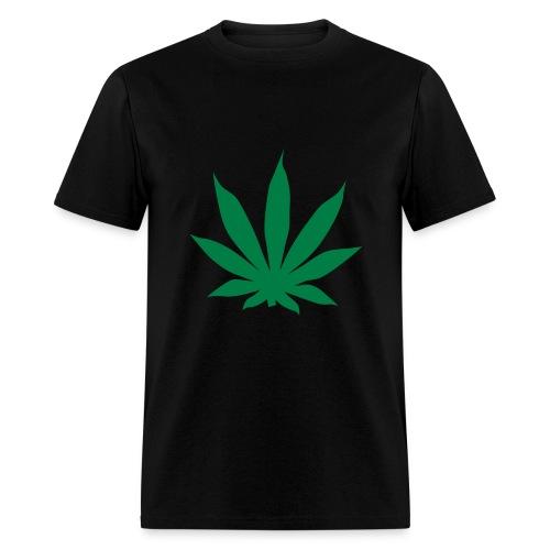 Green Cannabis Leaf - Men's T-Shirt