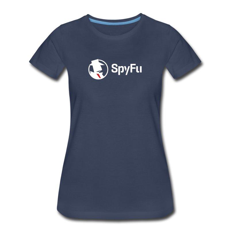 SpyFu_Logo_Horiz_White - Women's Premium T-Shirt