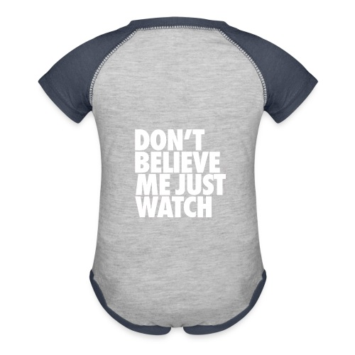 baby watch - Contrast Baby Bodysuit