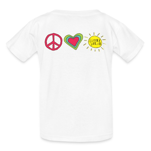 Double Sided Happy Last Day of School/Peace Love Summer Break - Kids' T-Shirt