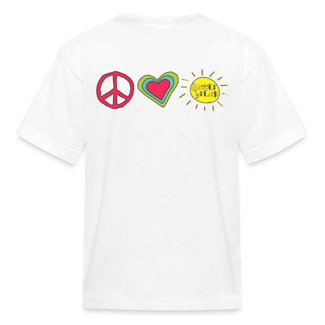 Double Sided Happy Last Day of School/Peace Love Summer Break | Kids'  T-Shirt
