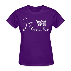 Just Breathe Butterfly Tee - Womens - Women's T-Shirt